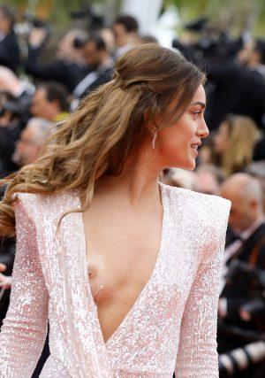 Dilan Çiçek Deniz Nipple Slip at Cannes
