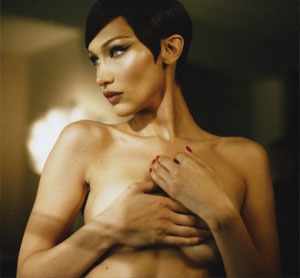 Bella Hadid Topless