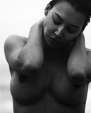 Naya Rivera Topless in Black & White Photo Shoot