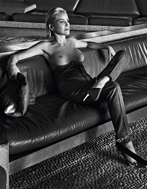 Sharon Stone Topless for Vogue at 61