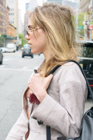 Suki Waterhouse Nipple Peek Down her Blazer