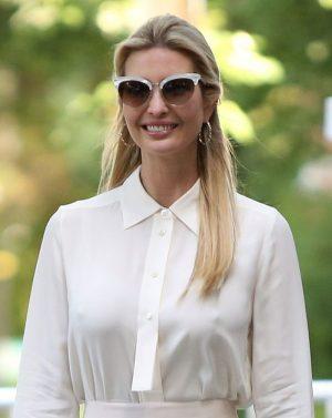 Ivanka Trump Nipple Pokies in White Blouse