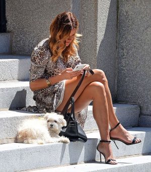 Kelly Bensimon Upskirt Sitting on a Step