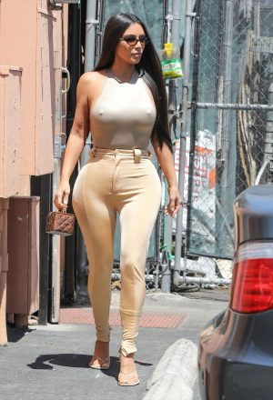 Kim Kardashian and her Golden Nipples