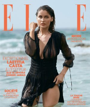 Laetitia Casta Posing for Elle Magazine