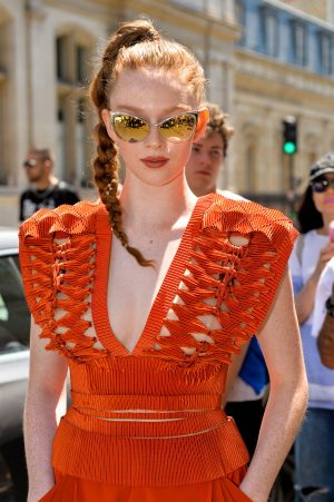 Larsen Thompson Nipples in See Through Bralette