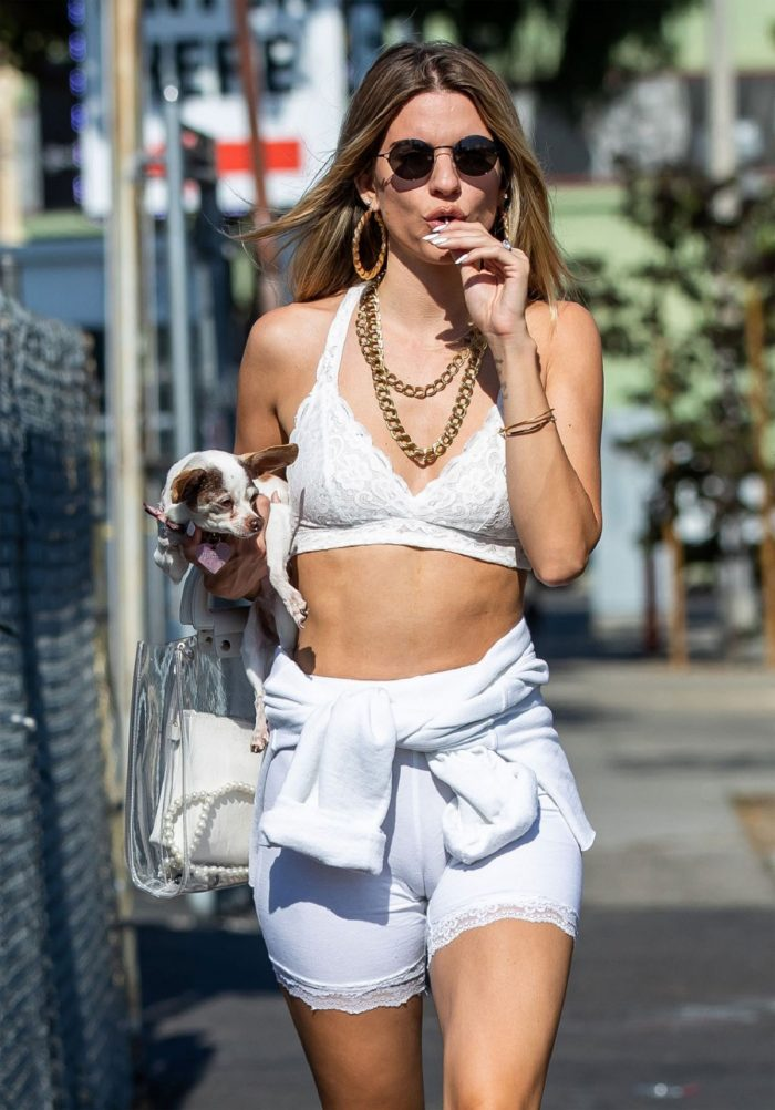Rachel McCord in Little White Shorts and MASSIVE Cameltoe
