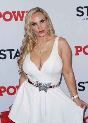 Coco Austin Braless Boobs in Slightly See Through White Dress