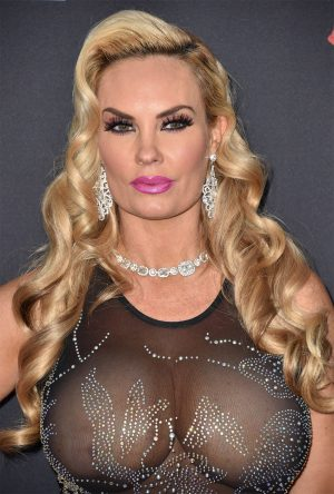 Coco Austin's Huge Boobs in Black Lace Outfit on the Redcarpet