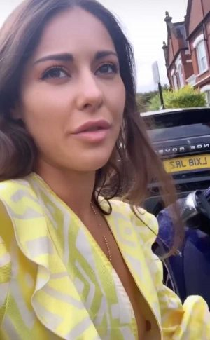 Louise Thompson Nipple Slip on Live Instagram Video