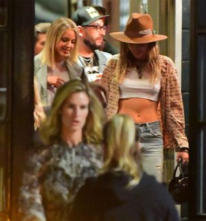 Miley Cyrus Nipple Pokies While Out with Kaitlynn Carter