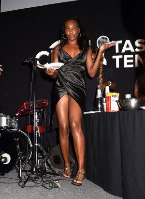 Venus Williams Black Silk Pantie Upskirt