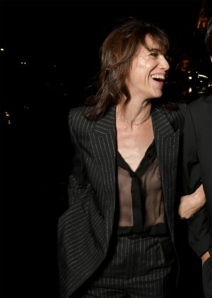 Charlotte Gainsbourg Reveals Her Nipple in an Under Shirt Nipple Slip