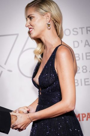 Chiara Ferragni has her Nipple Exposed While Accepting an Award