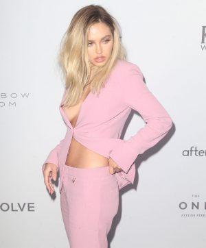 Delilah Hamlin Nip Slip in a Pink Suit
