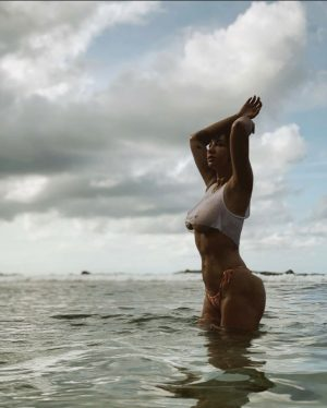 Jackie Cruz Flaunting her Curves in the Ocean