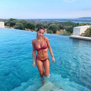 Rita Ora Rock Hard Nipples Exiting a Pool