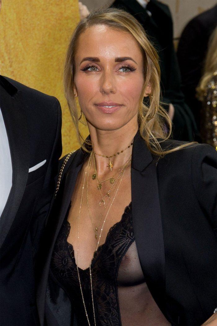 Annemarie Carpendale Nipple Slip in Black Lace