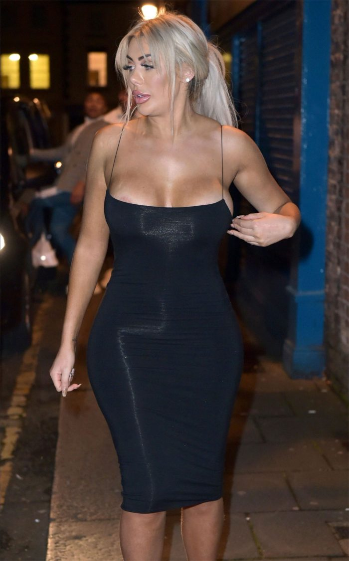 Chloe Ferry Areola Slip on Night Out