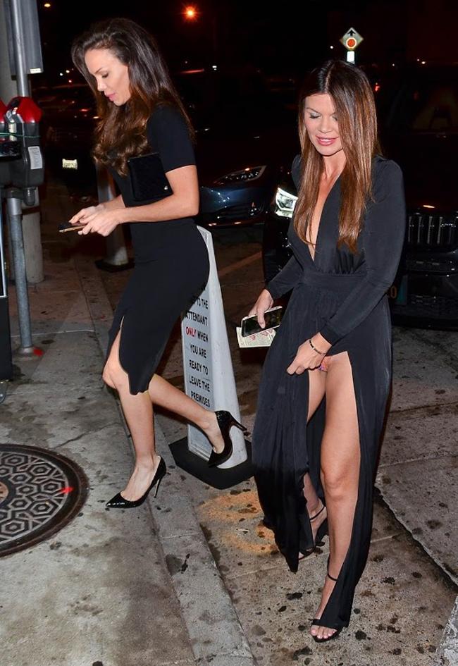 Danielle Vasinova Pantie Upskirt in Black Dress