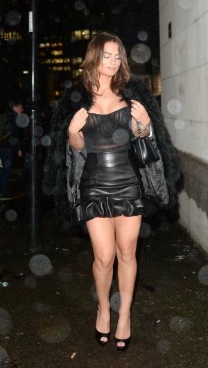 Nicole Bass Boobs on Display in See Through Black Dress