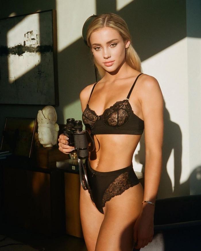 Charly Jordan in her Black Bra & Panties
