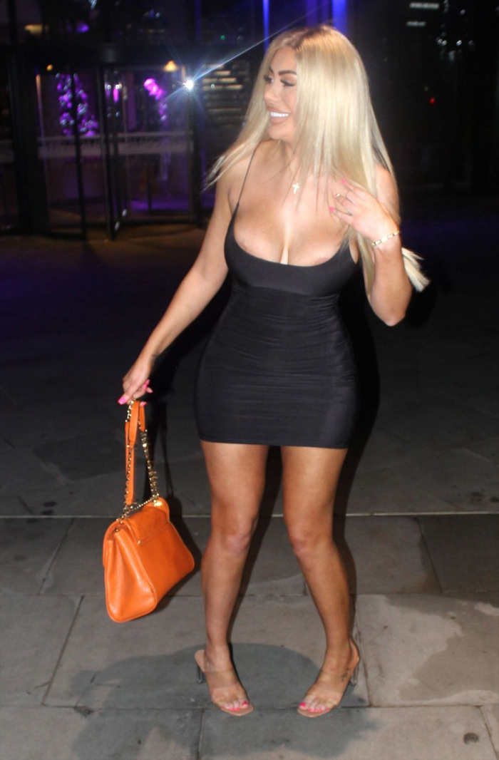Chloe Ferry Areola's Slip Out of the Top of her Dress