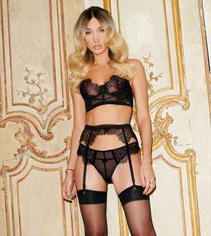Megan McKenna Posing in Sexy Lingerie