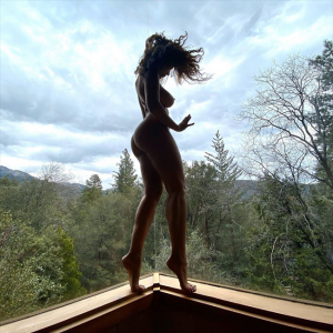 Nadine Velazquez Standing Butt Naked in Front of a Window