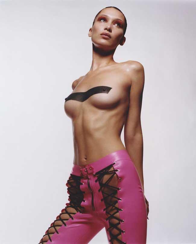 Bella Hadid Painted Titties
