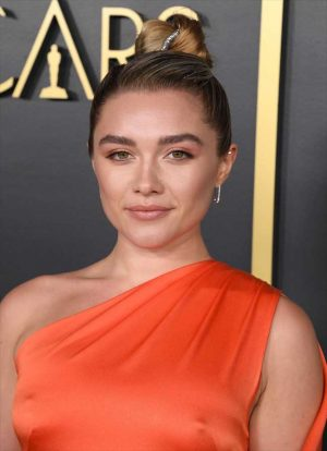 Florence Pugh Nipple Pokies on the Red Carpet