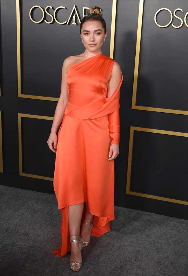 Florence Pugh Nipple Pokies on the Red Carpet