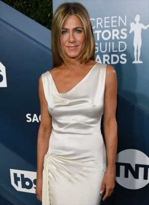 Jennifer Aniston Hard Nipples at the Screen Actors Guild Awards