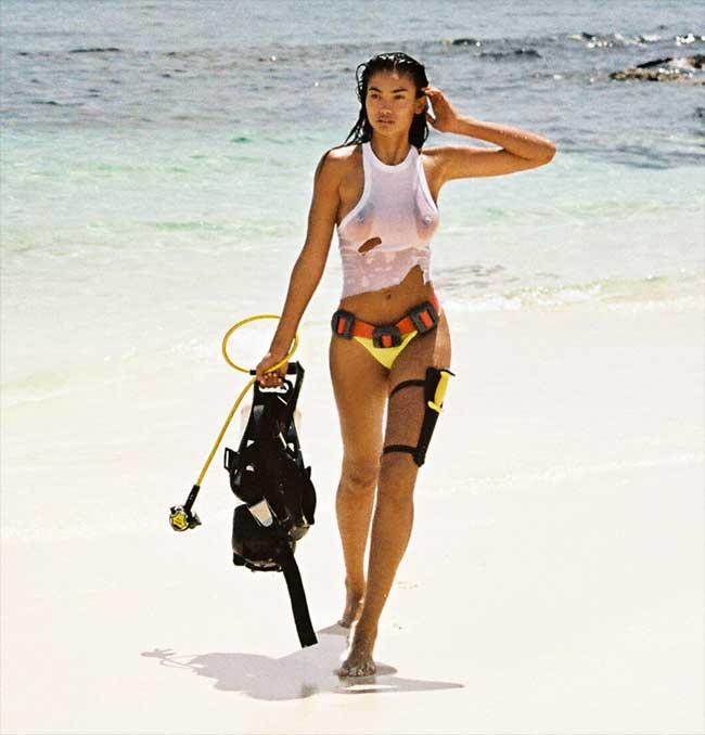 Kelly Gale Scuba Gear on the Beach