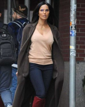 Padma Lakshmi Braless Nipple Pokies in NYC