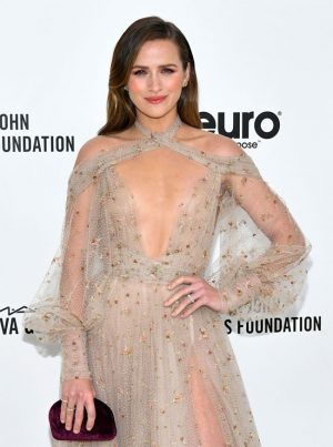 Shantel VanSanten on the Red Carpet Braless in a See Through Dress
