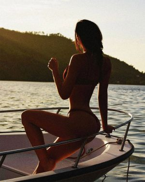 Alexis Ren In a Bikini at Sunset