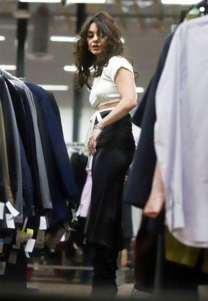 Vanessa Hugens Nipple Pokies While Thrift Shopping