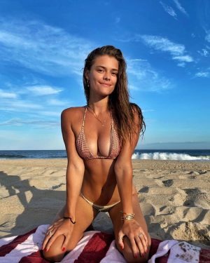 Nina Agdal Nipple Pokies in a Wet Bikini