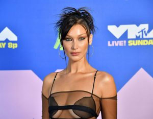Bella Hadid Nipple Slip at the 2020 MTV VMA's