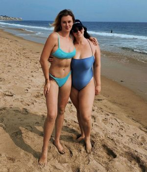 Ireland Baldwin Hard Nipples in her Teal Blue Bikini