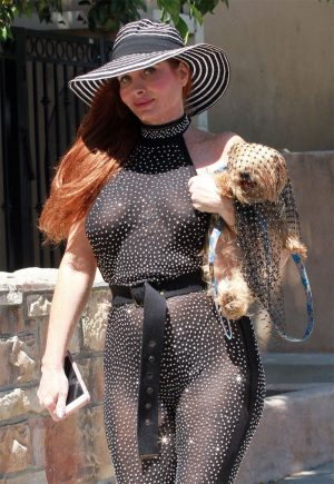 Phoebe Price in a See Through Black Bodysuit