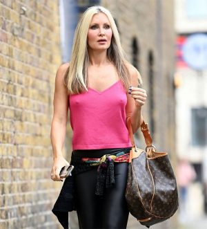 Caprice Bourret Hard Nipples in Leather Pants
