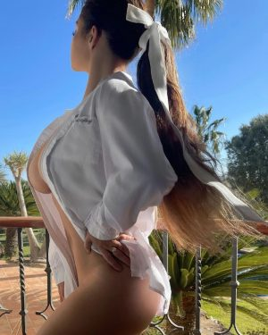 Demi Rose poses Nude in a Mans Dress Shirt