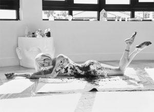 Katie Cassidy Posing Nude in Bodypaint