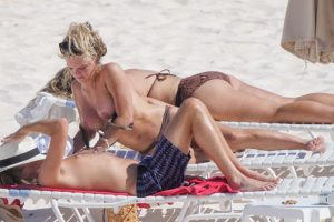Madison LeCroy Topless Sunbathing at the Beach