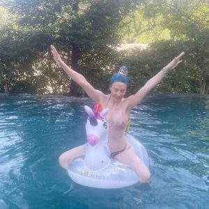 Whitney Cummings Tits in See Through Wet Bikini