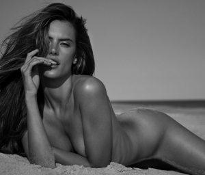 Alessandra Ambrosio Nude On The Shore