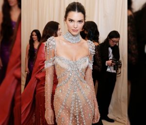 Kendall Jenner Gorgeous Body In See Through Dress