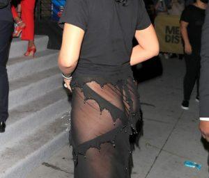 Rihanna Flaunting Her Ass In A See Through Skirt